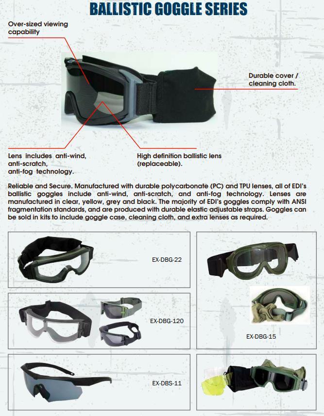EDI-USA gafas de protección